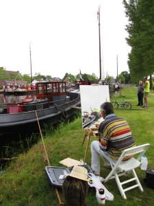 Het varend erfgoed inspireerde een aantal schilders om de historische vloot op het canvas vast te leggen.