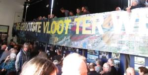PR en Communicatie is het speerpunt voor het bestuur dit jaar. Deze banner vormt daar onderdeel van en Inge Koomen gaat dat schip jagen.