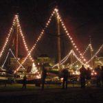 Verlichte museumhaven Gouda