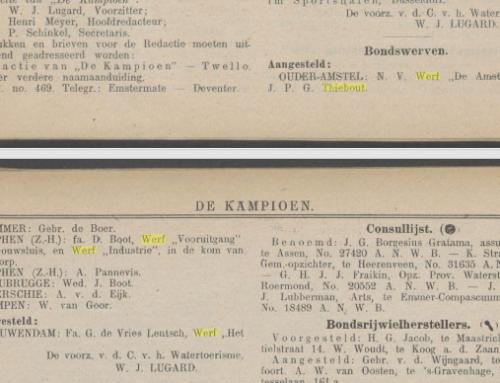 """Twee keer scheepswerf """"De Amstel"""""""